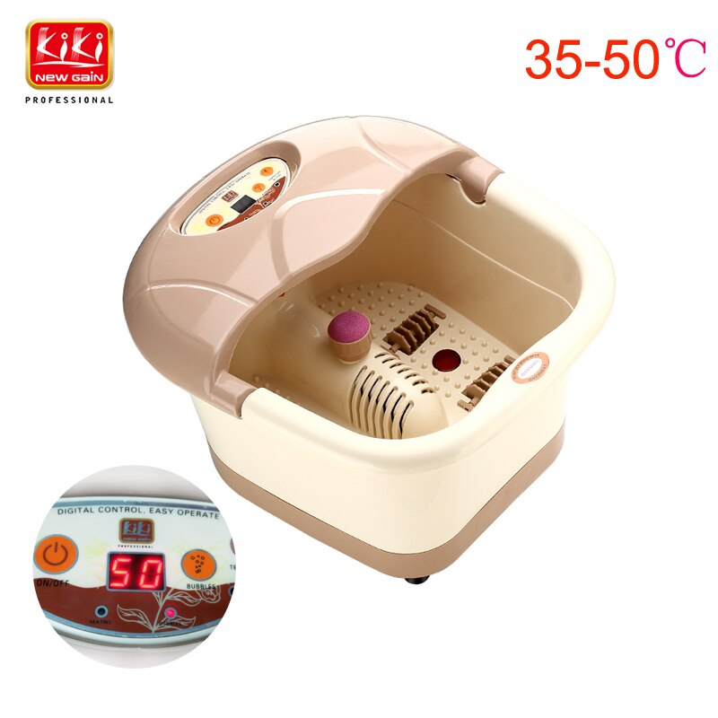 KIKI-heating-foot-spa-basin-foot-massager-Heating-Infrared-Bubble-Roller-massage-adjustable-temperature-with-handle